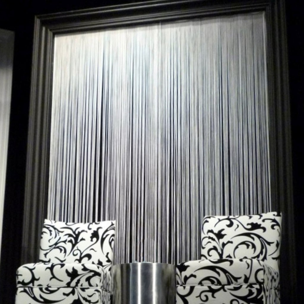 White String Curtain Panel