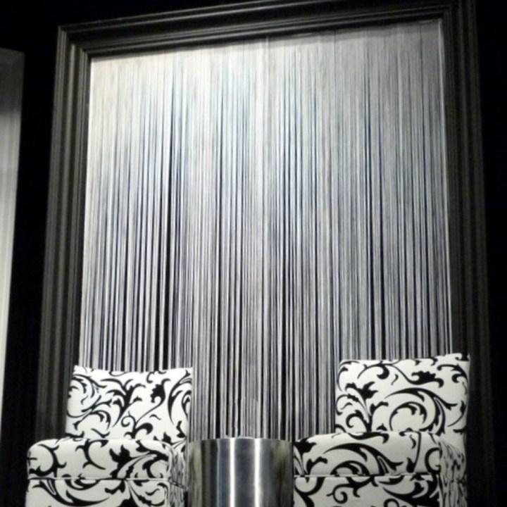 thread black octorose inch kitchen panel curtain dp curtains com home string sexy fringe amazon