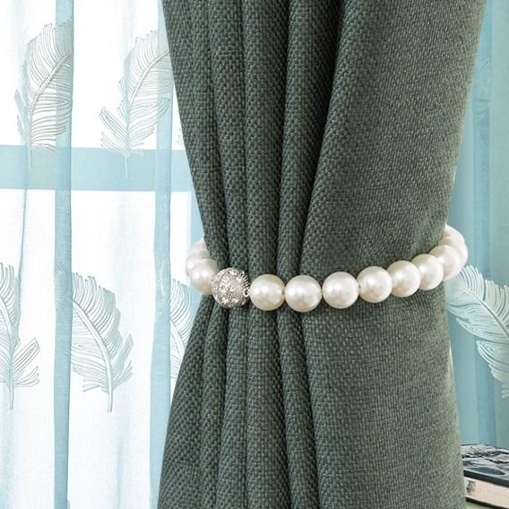 pearl magnetic curtain tiebacks