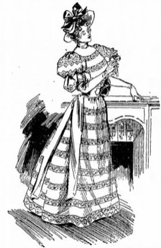 1894 Antique Ladies Dress