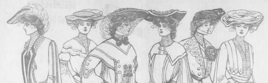1903 Ladies Antique Hats