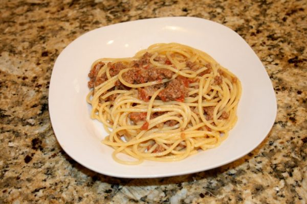 Miss Dean's Hamburger Steak and Spaghetti