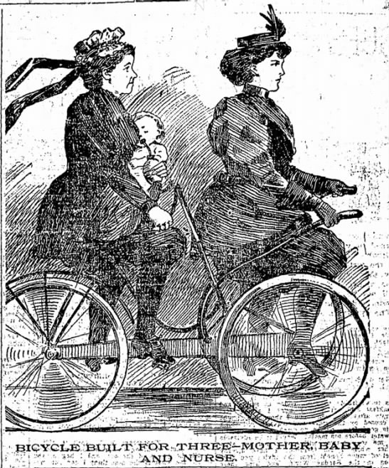 1896 Bicycle built for three