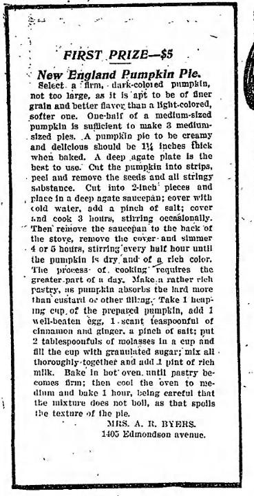 New England Pumpkin Pie