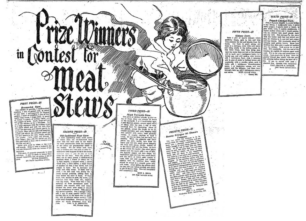 The Baltimore Sun Meat Stew Recipe Contest Winner