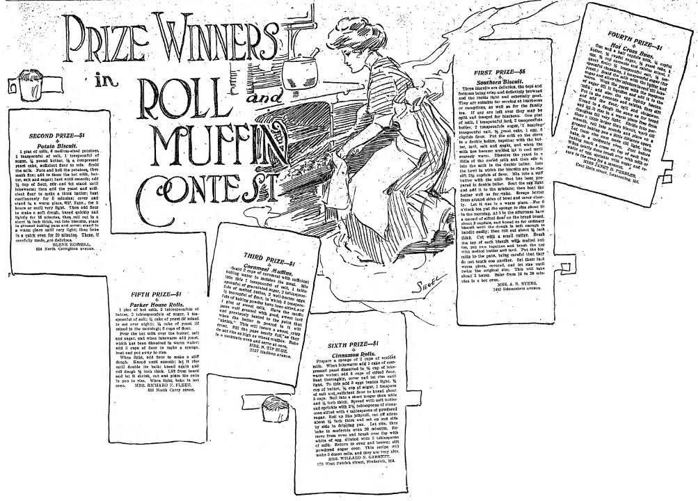 The Baltimore Sun Roll and Muffins Recipe Contest Winners