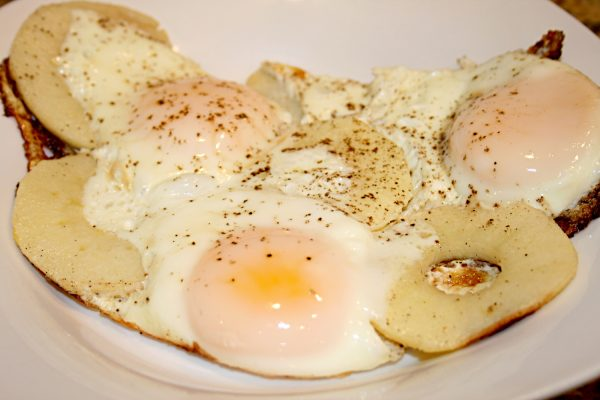 Fried Egg With Apples