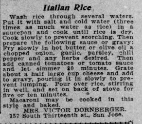 Italian Rice Recipe