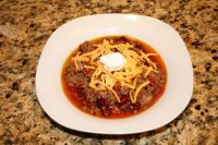Chili Con Carne with toppings