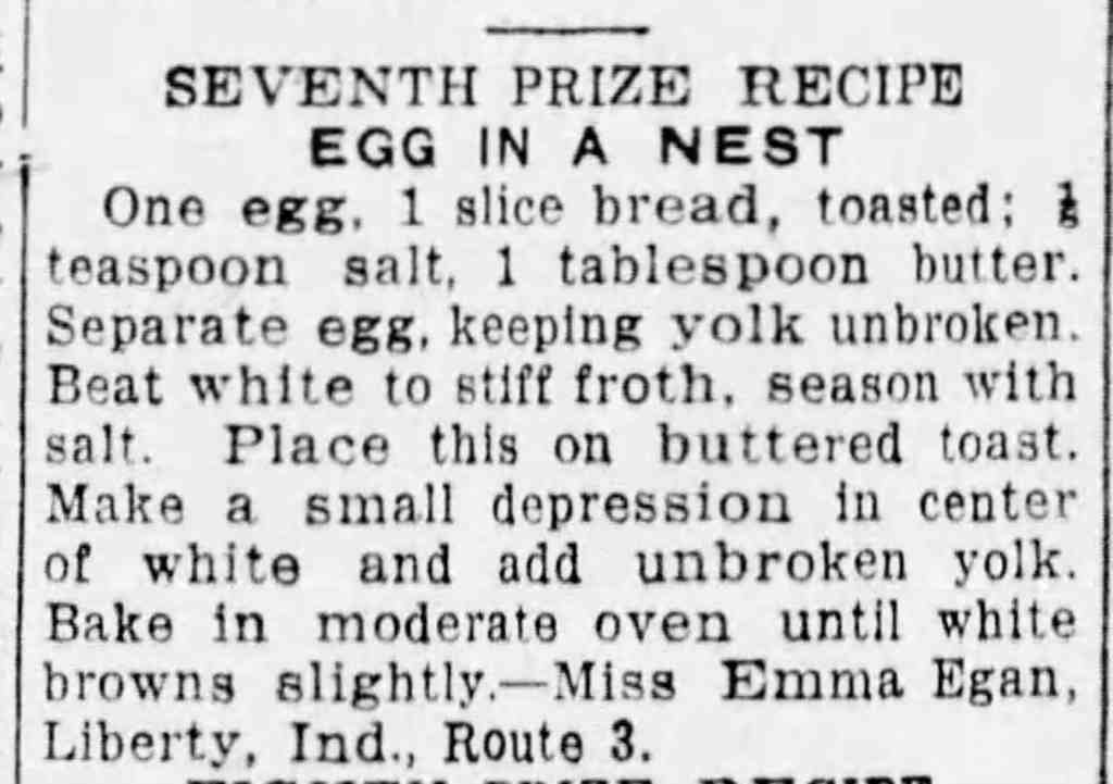 Eggs in a nest recipe