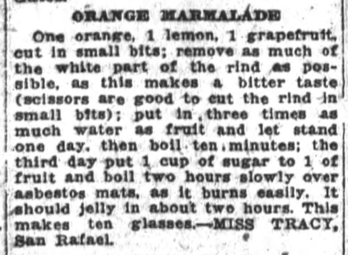 Miss Tracy's Orange Marmalade Recipe