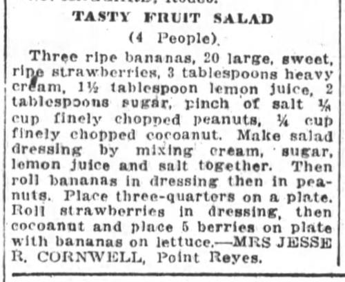 Mrs. Cornwell's Tasty Fruit Salad Recipe