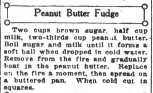 Mrs. De Graf's Peanut Butter Fudge Recipe