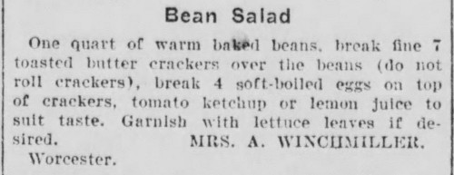 Mrs. Winchmiller's Bean Salad Recipe