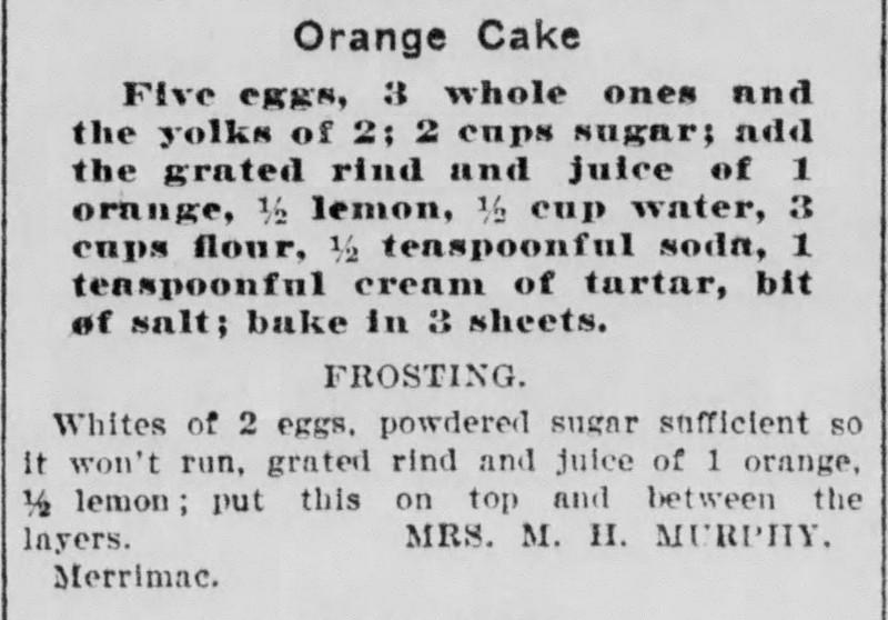 Mrs. Murphy's Orange Cake