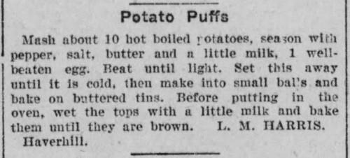 Ms. Harris' Potato Puffs Recipe