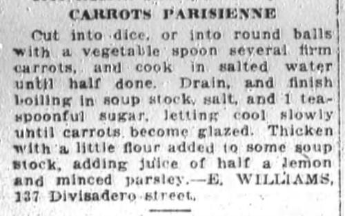 Carrots Parisienne