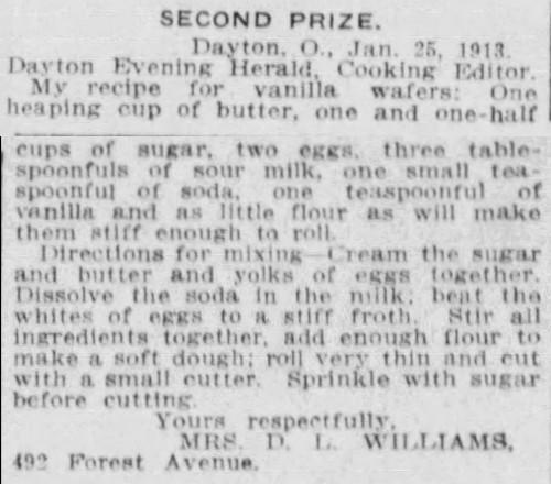 Vanilla Wafers Recipes