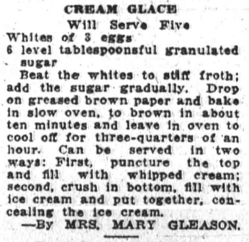 cream glace