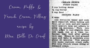 Cream Puffs with French Cream Filling by Mrs. De Graf