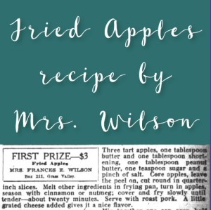 Fried Apples by Mrs. Wilson