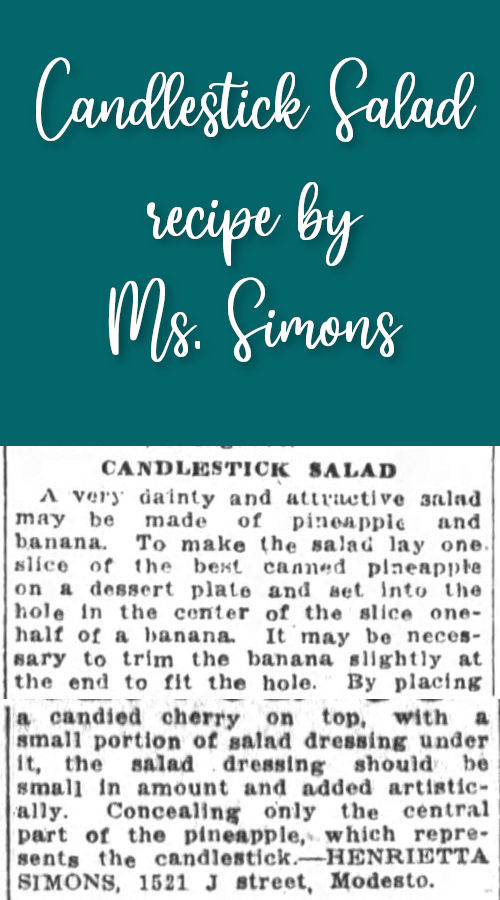 Candlestick Salad by Ms. Simons