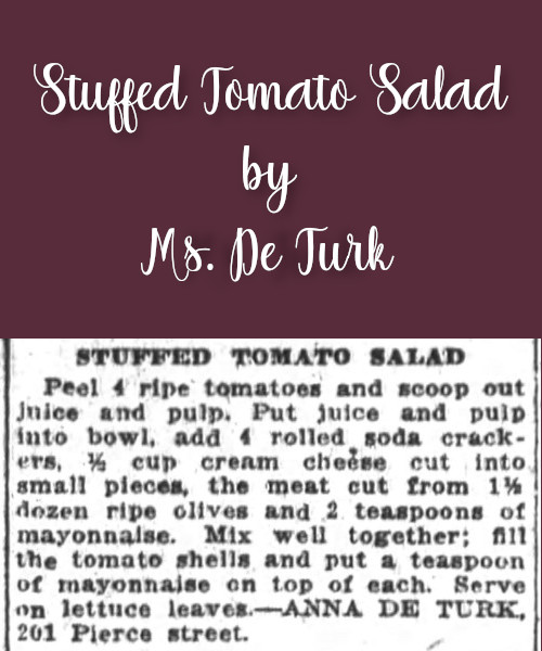 Stuffed Tomato Salad by Ms. De Turk