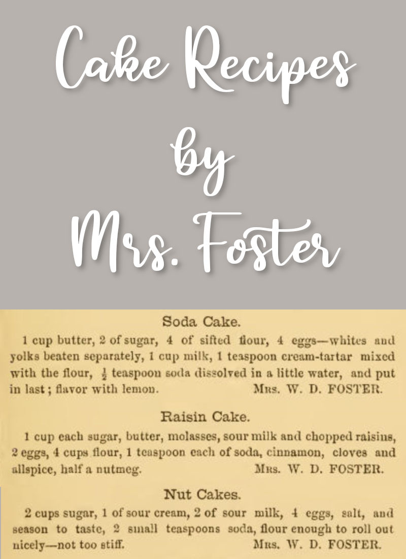 Soda Cake and Other by Mrs. Foster