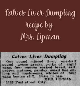 Calves Liver Dumpling