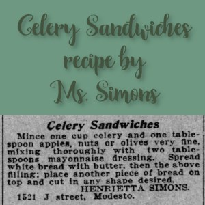 Celery Sandwiches by Ms. Simons