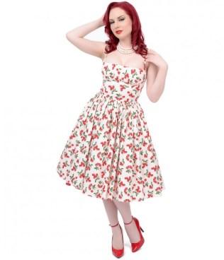 exclusive_bernie_dexter_1950s_style_white_red_cherry_paris_swing_dress__41