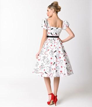 vixen_by_micheline_pitt_white_lipstick_print_cap_sleeve_swing_dress_3