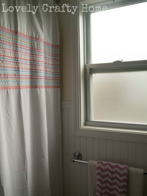 shower curtain and towel