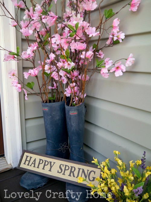 Spring Boots Front Porch