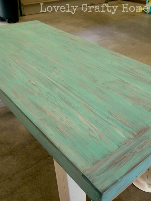 Turquoise Layered and Weathered Table Top