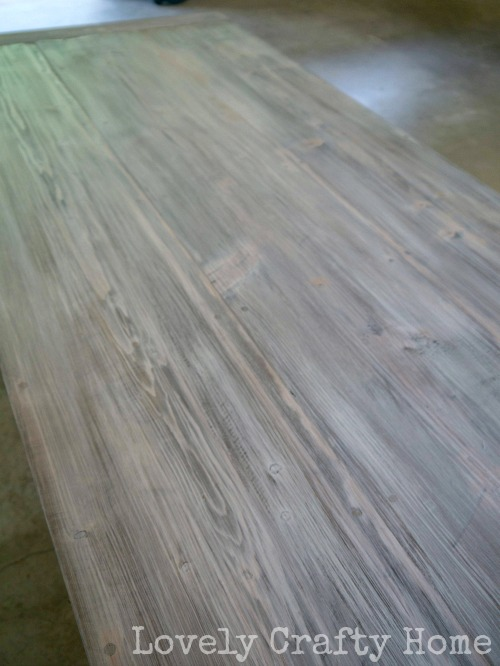 White weathered table top