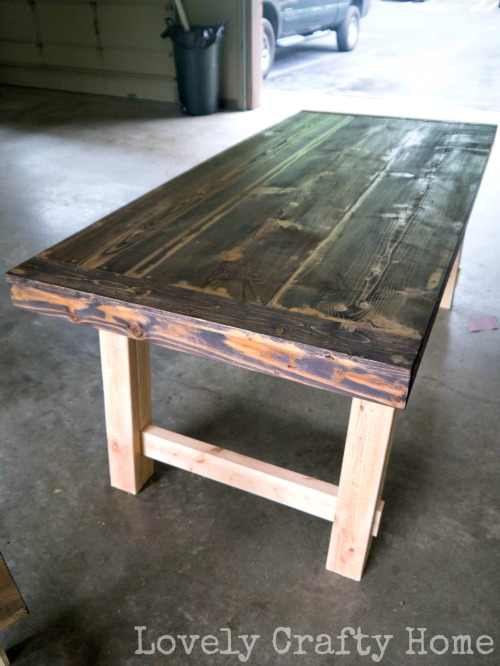 dark walnut stained table top