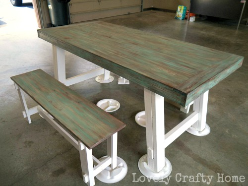 layered weathered table