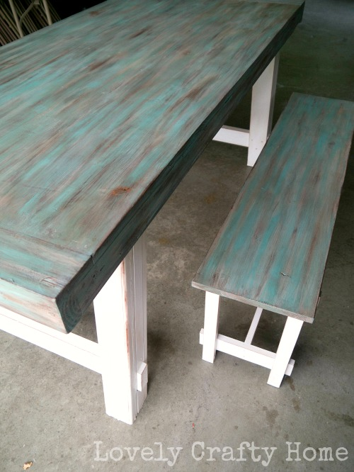 187 Diy Weathered Table Finish