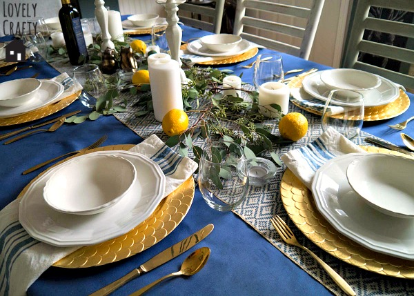 Greek Dinner Tablescape