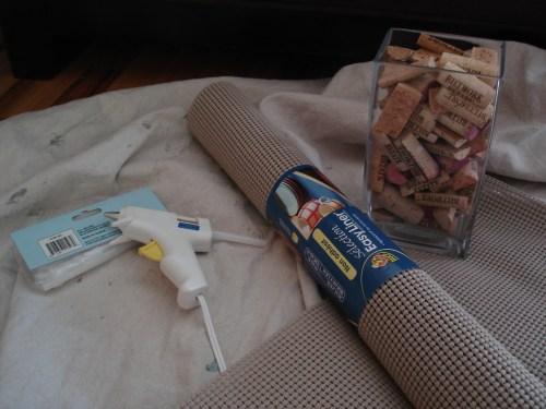 Cork bath mat and cork rug
