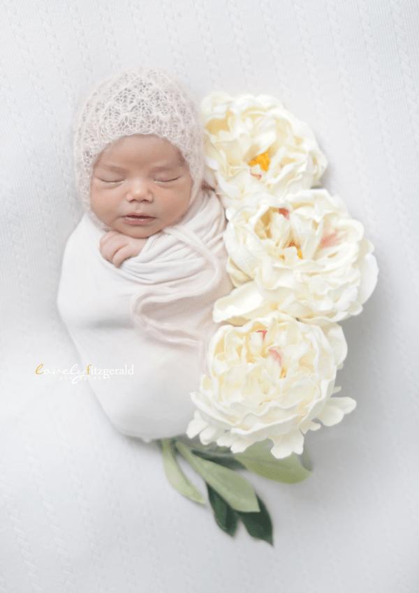 Swaddled Baby Girl, Frisco Newborn Photographer
