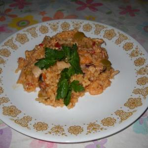 Portuguese Arroz Con Mariscos-Seafood and Rice