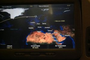 Singapore Airlines Flight to Houston via Moscow