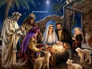 Merry Christmas Jesus birth image