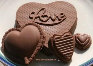 heart shaoe chocolate image
