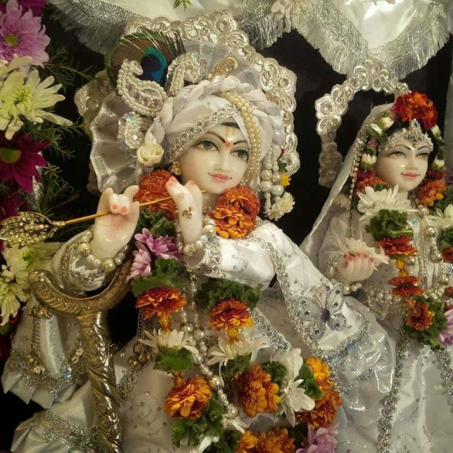 Cute Lord Krishna And Radha