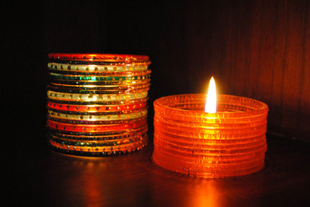 Diya making competition ideas tips latest diya decoration for Candle decoration with waste material