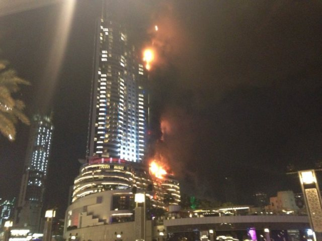 A fire broke at a hotel in downtown Dubai on Thursday evening.