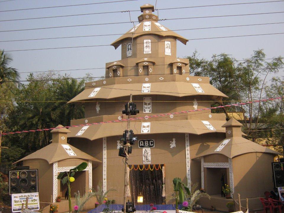 Saraswati Puja Pandal Decoration Idea Best Handmade